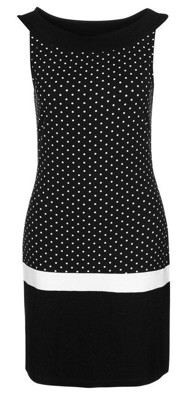 Fekete-fehér pöttyös ruha (s.Oliver Selection) - Fashion 38d59faed1