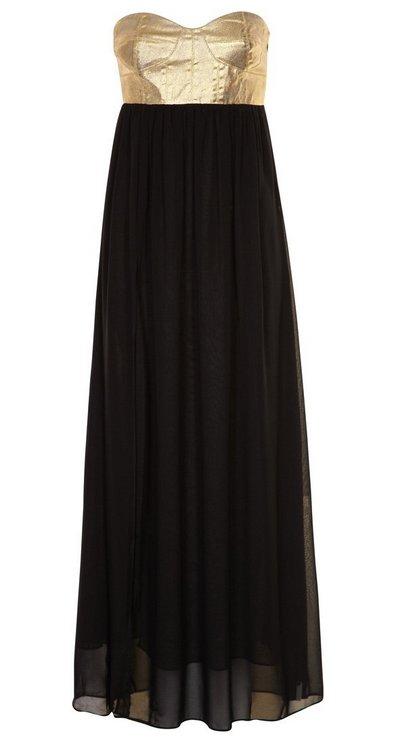 estélyi ruha alkalmi ruha női divat fekete-arany One Teaspoon 6f47e72250