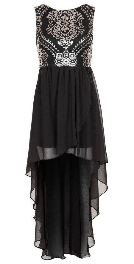Fekete-ezüst mintás ujjatlan alkalmi ruha (TFNC) - Fashion 7d971739f2