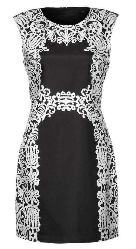 Fekete-fehér ujjatlan koktélruha (Tibi) - Fashion e1f107b349
