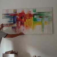 Lakásfelújítás 9. nap - Kézzel készült festmény