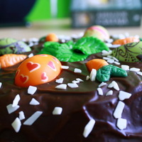 Húsvéti torta - csokis rusztikus