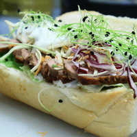 Hideg ebéd - Szendvics kacsával, snidlinges majonézzel, vegyes salátával