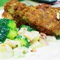 Vasárnapra, ebédre: Rántottcsirke, brokkoli salátával