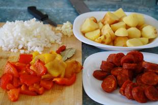 """Patatas a la riojana - Spanyol """"paprikáskrumpli"""""""