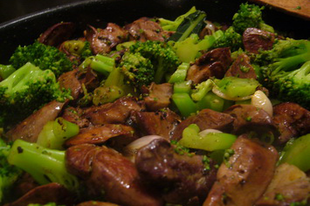 Risotti con fegatini di pollo e broccolo - rizottó csirkemájjal, brokkolival