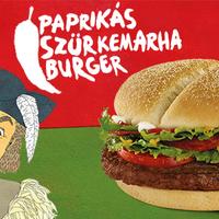 Erőtlenpaprikás Szürkemarha Burger