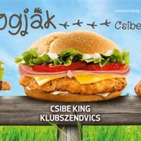 Sajttal-sonkával nem töltött - Csibe King Klubszendvics