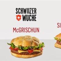 Svájci burgerek a svájci McDonald's kínálatában