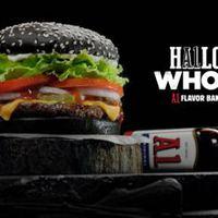 Halloween Whopper a Burger Kingben