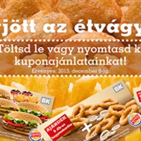 Kuponokkal támad a Burger King