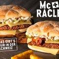 Raklett burgerek a svájci Mekiben