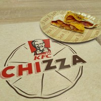 Csirkés cheddar áradat - KFC Chizza