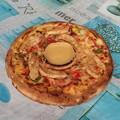 Csirkés pizza több személyre - Satay Chicken Pizza