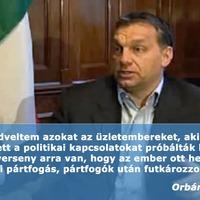 Orbán 2009: Gazdasági verseny jó, politikai pártfogás rossz