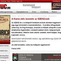 A Kuruc.info üzenete az SZDSZ-nek
