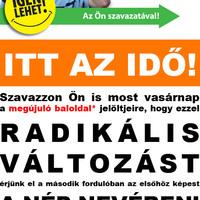 Az MSZP legeslegutolsó szórólapja az idei kampányban