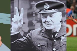 Churchill szivarja keresztet vet