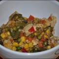 Zöldséges-rizses hús