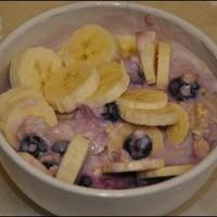 Banános-Áfonyás müzli