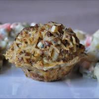 Sajtos-mustáros fasírt, pikáns franciasalátával