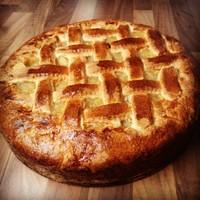 Rusztikus körtés - almás pite