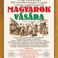 Vásárnaptár - Magyarok vására az Érsekkertben - 2011. november 13. vasárnap