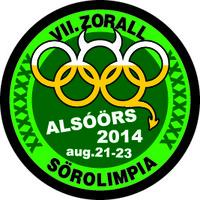 VII. ZORALL SÖROLIMPIA - Alsóörs, 2014. augusztus 21-23.