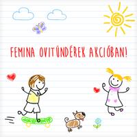 Jótékonysági pályázat: Femina Ovitündérek akcióban