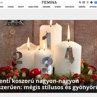 Karácsonyi hangulatban a Femina.hu szerkesztősége