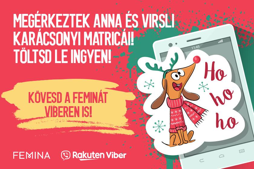 A Femina.hu új karácsonyi matricacsomagot indított a Viberen