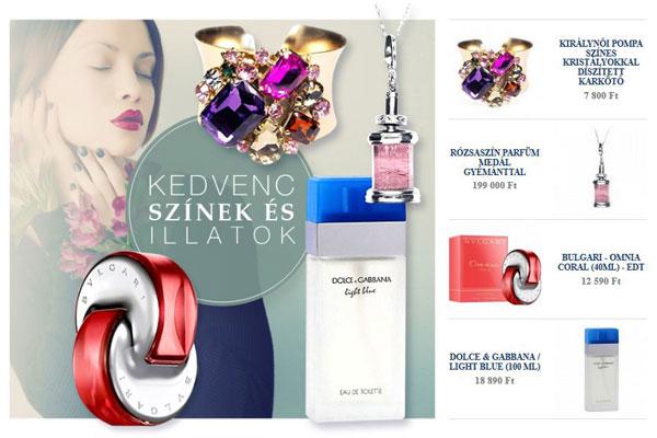 Parfümök és ékszerek, FeminaShop címoldal