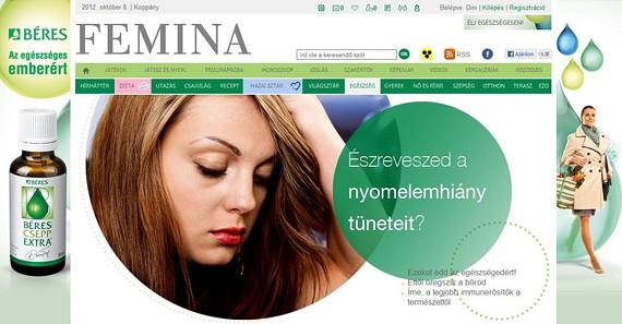 AZ Élj egészségesen! 4 hetes különrovatot a Béres számára hoztuk létre, ahol szerkesztőségi cikkeken keresztül edukáltuk olvasóinkat a vitaminfogyasztás fontosságával kapcsolatban. (2012 szeptember)