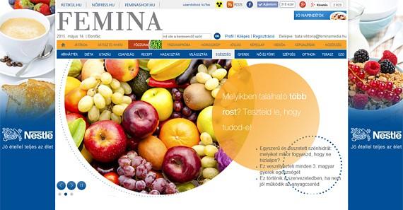 A Nestlé-vel április-május hónapban a minőségi reggelire és tápanyagbevitelre, valamint a rostok fontosságára hívjuk fel a figyelmet. (2015 április)