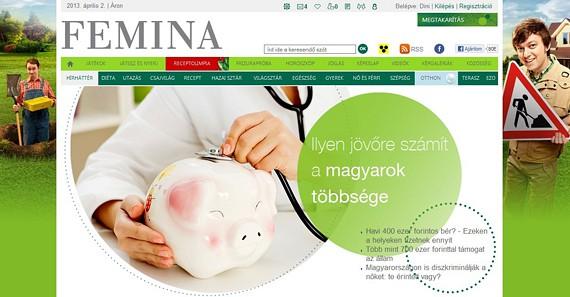 Olvasóink edukálása céljából lakossági megtakarítással és az öngondoskodás fontosságával kapcsolatban készítettünk szerkesztőségi tartalommal megtöltött 4 hetes, brandingelt különrovatot az OTP számára.       (2013 április)