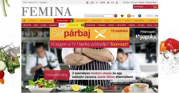 A TV Paprika sztárszakácsainak népszerűsítése céljából brandingelt különrovatot hoztunk létre a Chello Central Europe számára, ahol olvasóink megszavazhatták, ki legyen a séfek séfje. A szavazók között egy páros londoni hétvége talált gazdára. (2013 március)