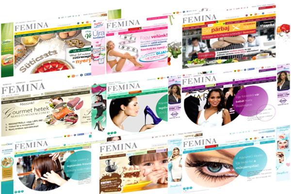 Megvalósult egyedi projektek a Femina.hu oldalon