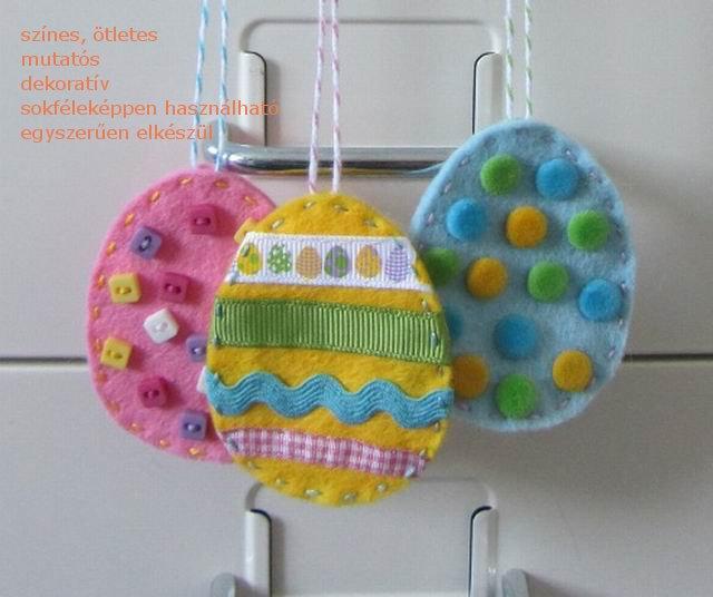 Így készül a húsvéti filc tojás