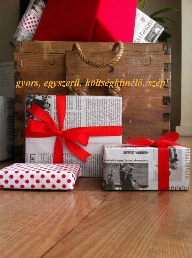 Ajándék csomagolás: 40 tipp a csoda egyszerűre