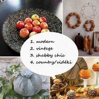 Őszi dekorációk négyféle stílusban