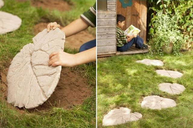Így készíts egyedi járólapot a kertbe