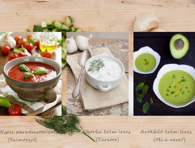 3 kedvenc nyári leves, főzés nélkül
