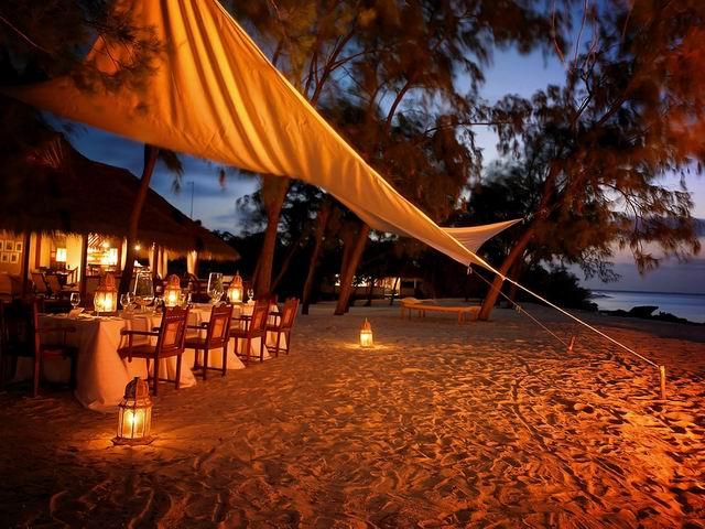 Az óceán partján - pihenőházak Mozambikban