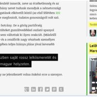 A kommentelők után már magát is cenzúrázza a 444