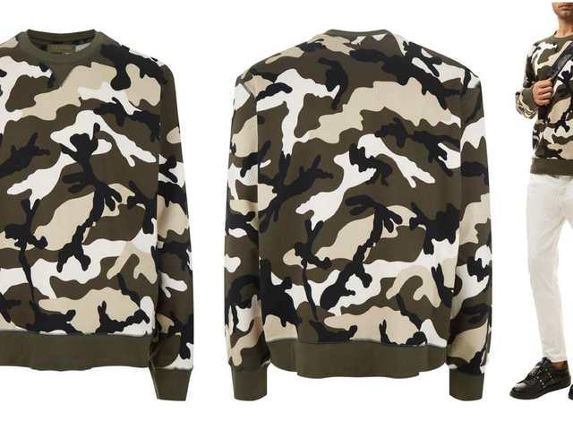 3cbaa2a5a8 Valentino Camouflage Sweatshirt
