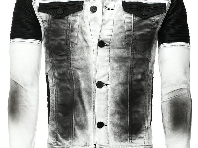 406dadfd9b Kingz fekete-fehér vintage look farmerdzseki