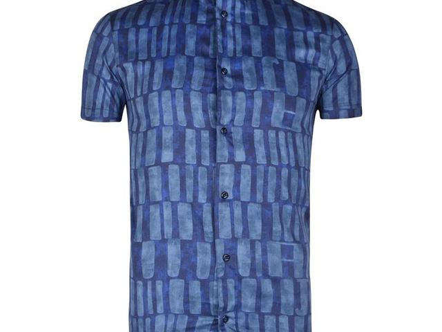 1c62742347 Armani Jeans Patterned Shirt, Blue