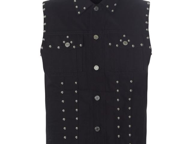 715ab16448 Givenchy Studded Denim Gilet, Black
