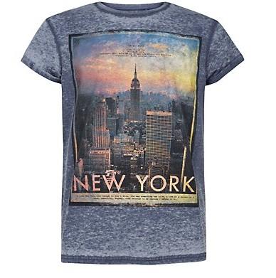 b88a02646c New Look kék New York nyomott mintás póló - Férfidivat