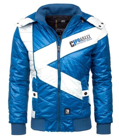 Cipo   Baxx kék-fehér téli dzseki - Férfidivat f08152f513